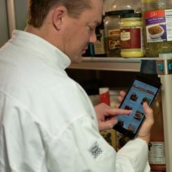 Chef on a tablet
